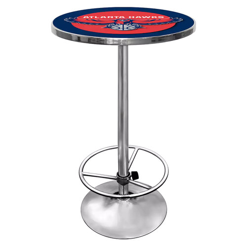 Trademark NBA Atlanta Hawks Chrome Pub/Bar Table