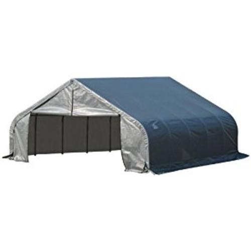 ShelterLogic 80005 Grey 18'x28'x10' Peak Style Shelter [Grey, 18'x28'x10']