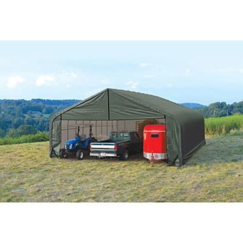ShelterLogic Peak 30 Ft. W x 20 Ft. D Shelter; Green