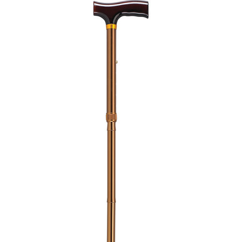 Drive Medical Bronze Lightweight Adjustable Folding Cane with T-Handle