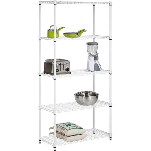 Honey-Can-Do 5Tier Adjust Shelving Unit Wht