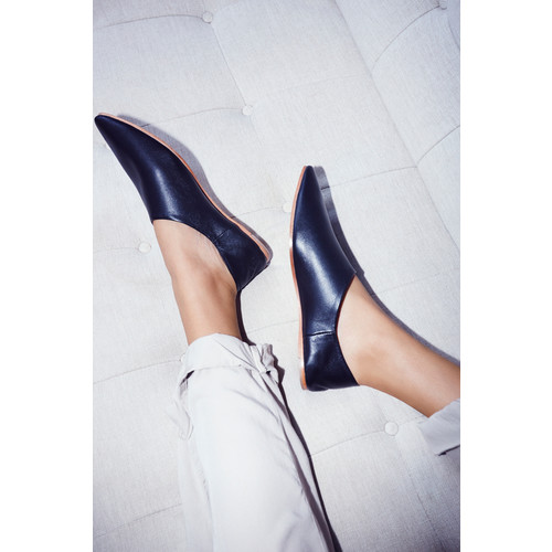 Lexie Leather Flat [REGULAR]