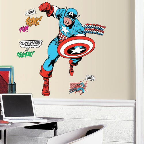 RoomMates Classic Captain America Comic Peel and Stick Giant Wall Decals