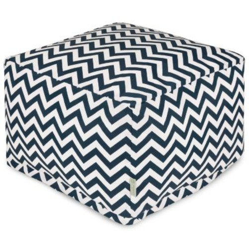 Majestic Home Goods Chevron Bean Bag Ottoman, Indoor/Outdoor