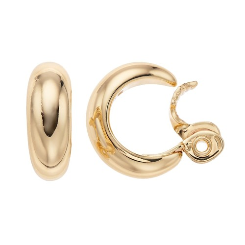 Napier Small Hoop Clip-On Earrings