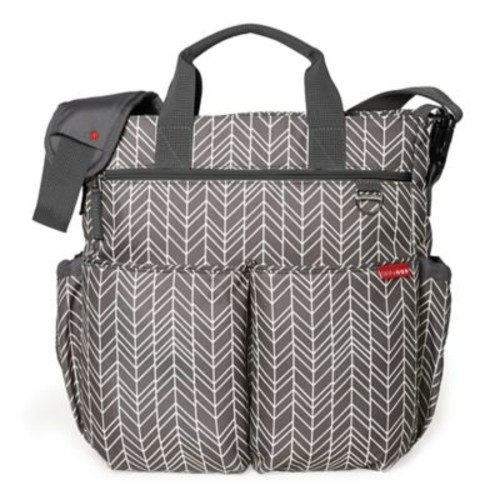 SKIP*HOP Duo Signature Diaper Bag in Grey Feather