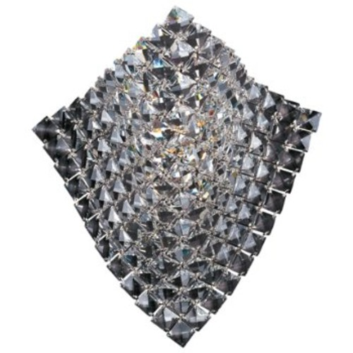 Wave Wall Sconce [Shade Color : Crystal; Finish : Polished Chrome]