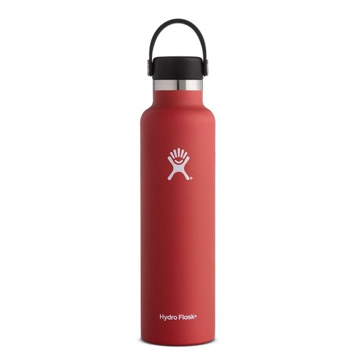Hydro Flask - Stainless Steel Water Bottle Vacuum Insulated Standard Mouth with Flex Cap Lava - 24 oz.