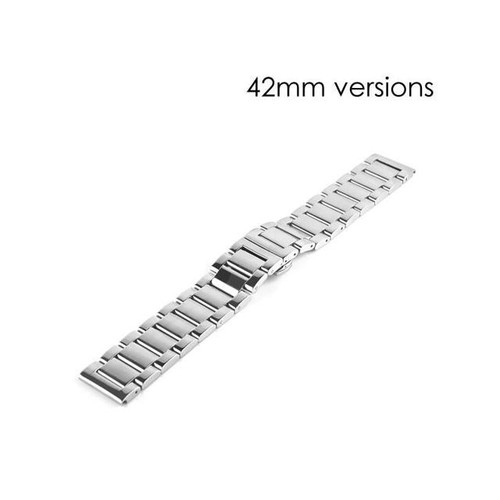 Stainless Steel Watch Belt Classic Buckle Band Strap Replacement For Apple Watch 42 mm - Silver
