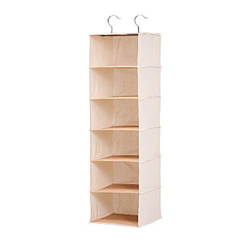 Honey-Can-Do SFT-01001 Hanging Shoe Organizer, Bamboo/Canvas, 10-Shelf [Bamboo]