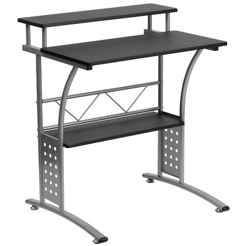 Flash Furniture - Flash Furniture Clifton Computer Desk in Black - Black