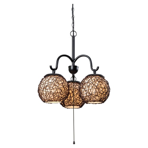 Kenroy Home 93403BRZ Transitional 3 Light Outdoor Pendant in Bronze Finish