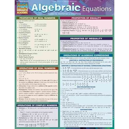 Algebraic Equations: Formulas, Properties & Operations