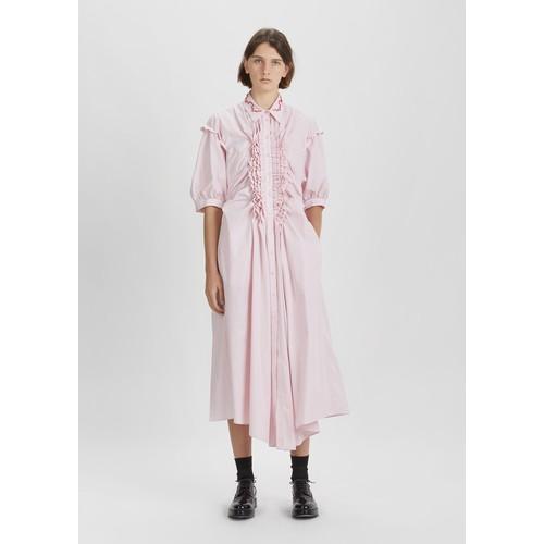 Beaded Frill Shirt Dress