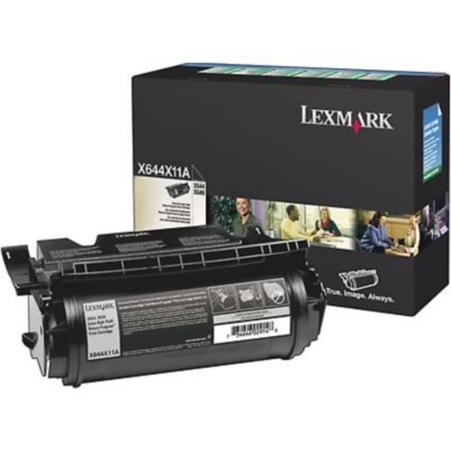 Lexmark X644X11A Black Return Program Toner Cartridge, Extra High Yield