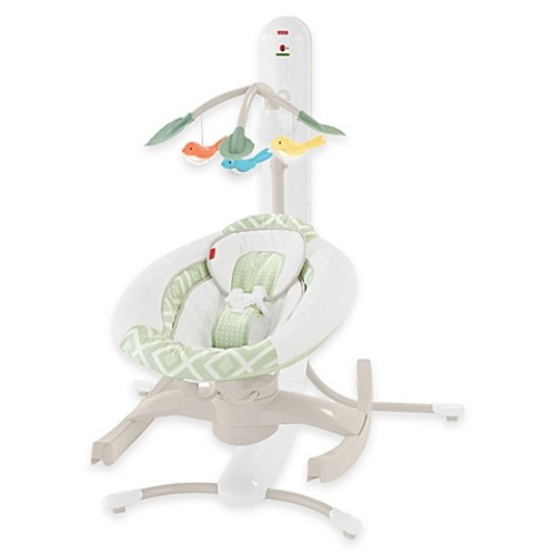 Fisher-Price Smart Connect 4-in-1 Musical Cradle and Swing