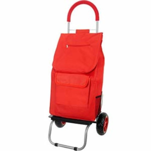 Trolley Dolly 2-in-1 Folding Cart and Dolly with Comfort Handle - Red Color - Foldable Bag with Comfort Handle and Dolly