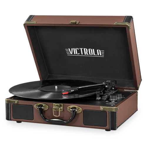 Victrola VSC-1400 Bluetooth Suitcase Record Player with 3-speed Turntable