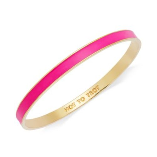 kate spade new york Bracelet, Gold-Tone Fluorescent Pink