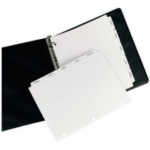 Avery 5-Tab Single Reverse Collated Dividers for Copiers, White, 8 1/2