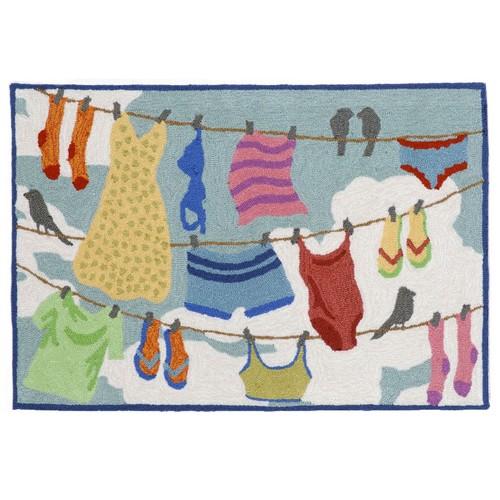 Liora Manne Frontporch Clothesline Indoor Outdoor Rug