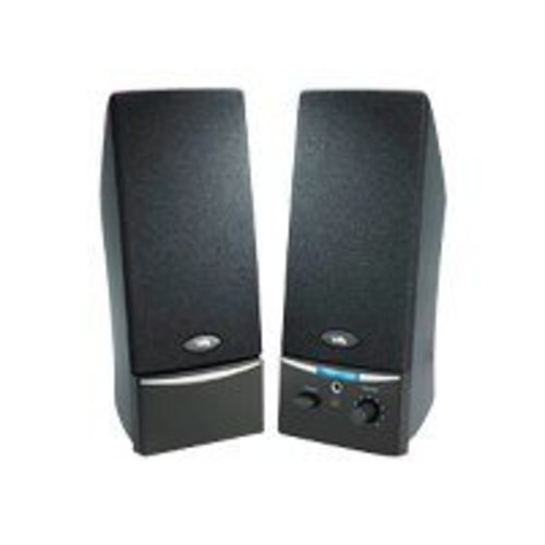 Cyber Acoustics CA-2014rb 2.0 Speaker System - 4 W RMS - Black - CYBER ACOUSTICS - CA-2014RB