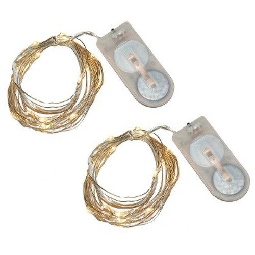 2ct Lumabase Warm White Submersible LED Mini String Lights