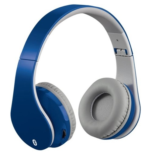 iLive - IAHB68BU Wireless Over-the-Ear Headphones - Gray/Blue