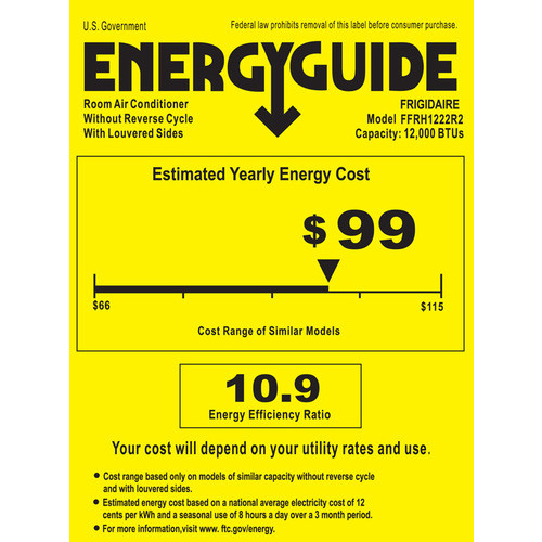 Frigidaire - 12,000 BTU In-Wall/Window Air Conditioner and 11,000 BTU Heater - White