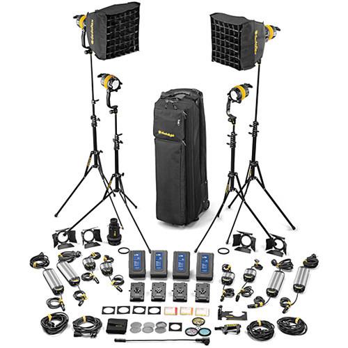DLED4-BI Bi-Color LED 4-Light Master Kit (Mains & Battery Operation)