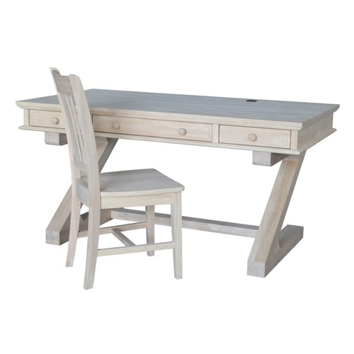 Wooden Executive Desk with Chair