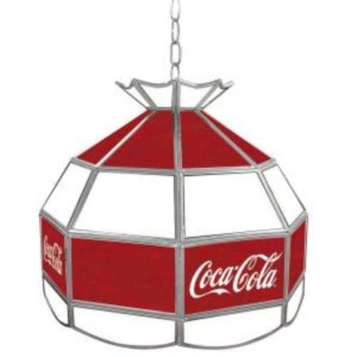 Trademark Global Coca Cola 16 in. Stained Glass Billiard Hanging Tiffany Light