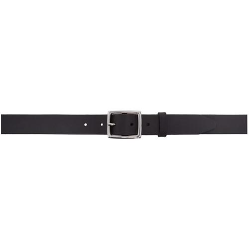 RAG & BONE Black Leather Boyfriend Belt