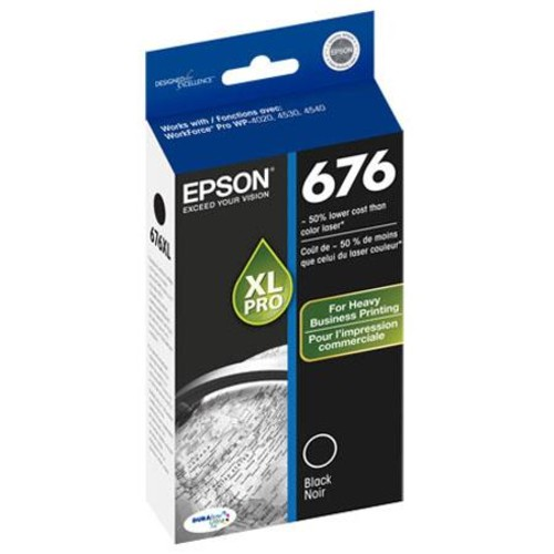 Epson 676XL Durabrite Ultra XL Ink Cartridge, for WorkForce Pro, Black T676XL120