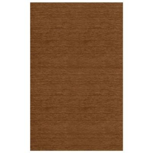 Ruggable Washable Solid Tobacco 5 ft. x 7 ft. Stain Resistant Area Rug
