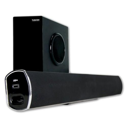 Turcom TS-404 2.1 Channel Home Theater Surround Sound Bluetooth Soundbar with Wireless Subwoofer
