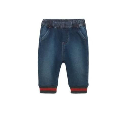 Baby's Denim Web-Trimmed Jogging Pants