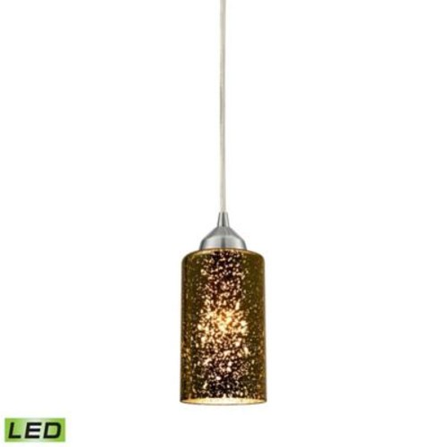 itude Run Burks 1-Light Glass Shade Mini Pendant; Sage