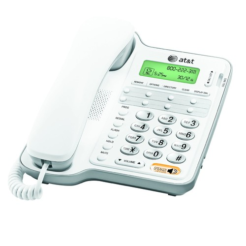 AT&T CL2909 Corded Phone with Speakerphone and Caller ID/Call Waiting, White [1-Pack]