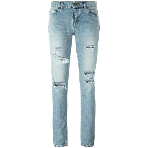 SAINT LAURENT Skinny Distressed Jeans