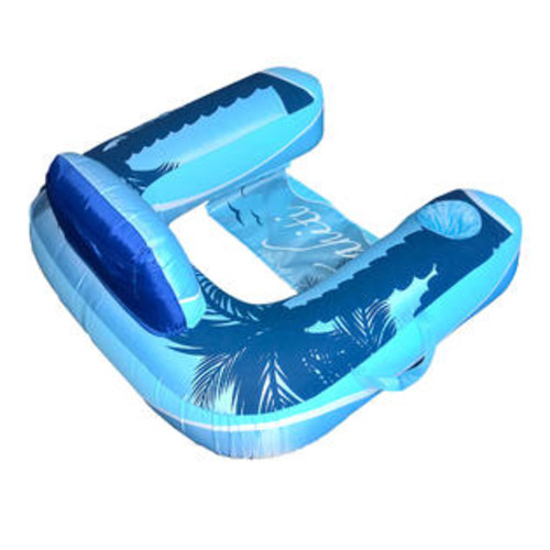 Blue Wave Drift + Escape U-Seat Inflatable Lounger - Blue