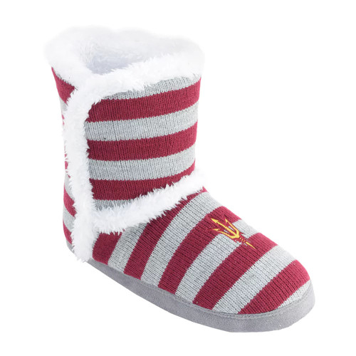 Women's Arizona State Sun Devils Striped Boot Slippers