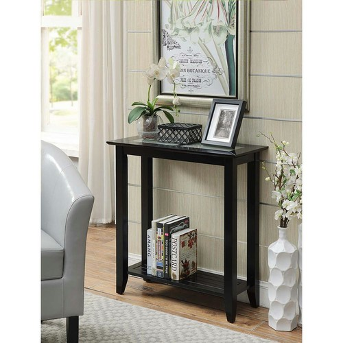Convenience Concepts Carmel Black Hall Table