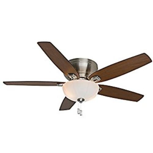 Casablanca Fan Company 54101 Durant 54-Inch Brushed Nickel Ceiling Fan with Five Walnut/Burnt Walnut Blades with Light Kit [Nickel, 54-inch]