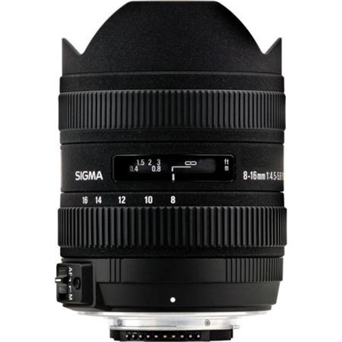 Sigma 8-16mm f/4.5-5.6 DC HSM Lens for Nikon DSLR, USA 203306