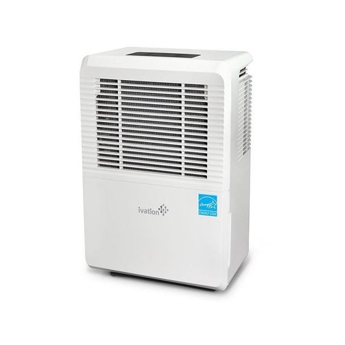 Ivation 70 Pint Energy Star Dehumidifier - Large-Capacity For Spaces Up To 4,500 Sq Ft - Includes Programmable Humidistat, Hose Connector, Auto Shutoff / Restart, Timer, Castes & Washable Air Filter
