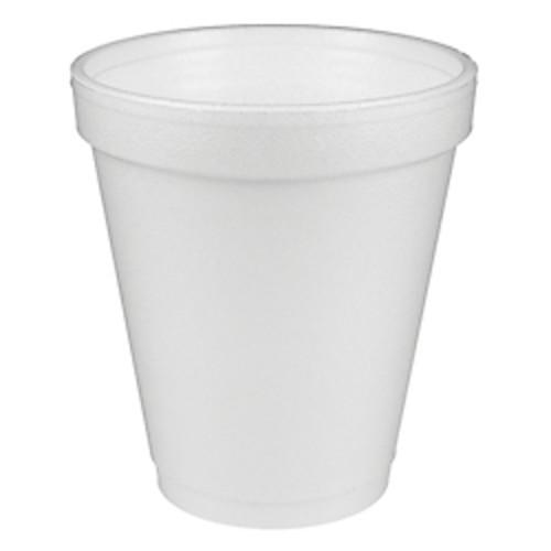 Dart Insulated Styrofoam Drinking Cups, White, 10 Oz, Box Of 25
