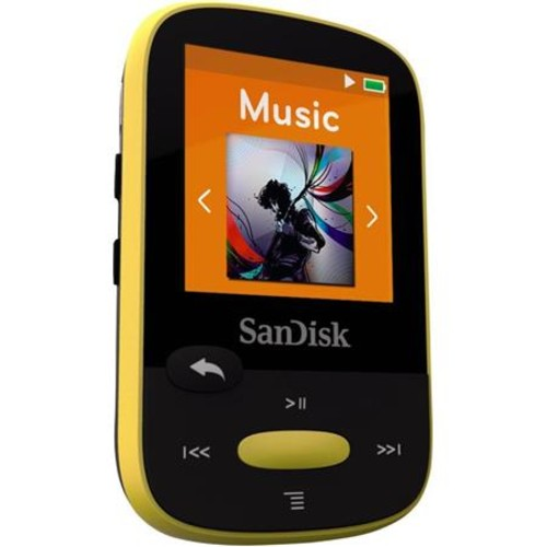 SanDisk 4GB Clip Sport MP3 Player, 1.44 LCD Display, Yellow SDMX24-004G-A46Y