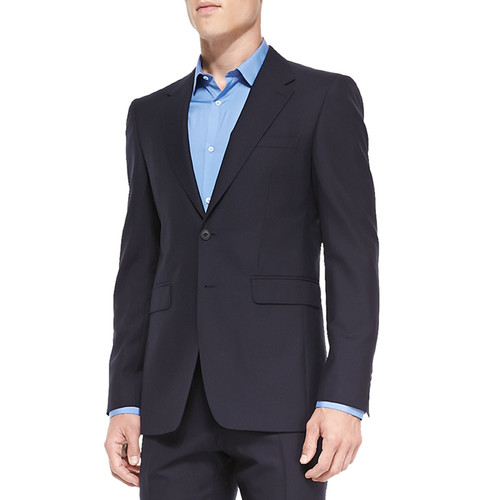 BURBERRY LONDON Modern-Fit Wool Suit, Navy
