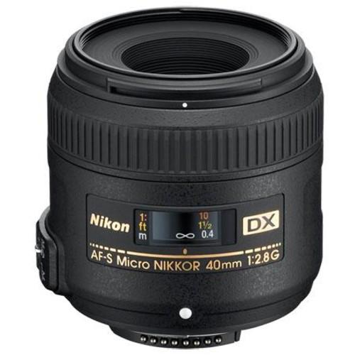 Nikon AF-S DX Micro-NIKKOR 40mm f/2.8G Close-up Lens for Nikon DSLR Cameras [Lens Only]